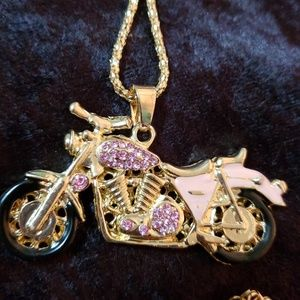NWT BETSEY JOHNSON PINK MOTORCYCLE!!